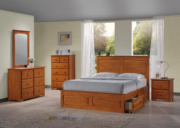 5 piece bedroom sets platform beds youth beds bunk beds under bed storage drawers and much more for Bedroom set with storage drawers